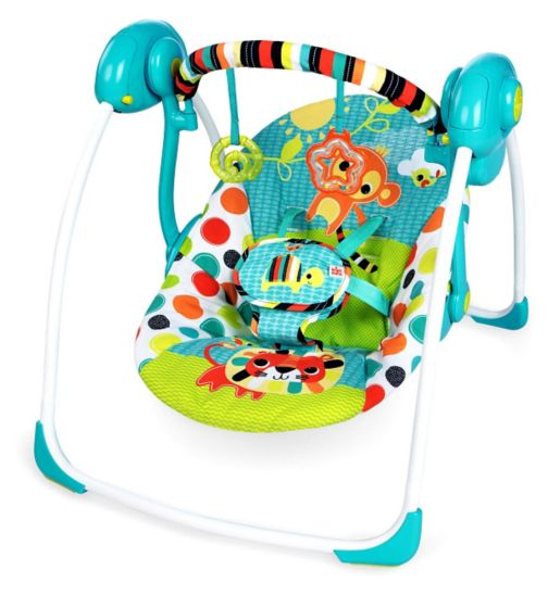 Bright Starts Kaleidoscope Safari Portable Swing chair