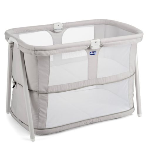 Chicco Lullago Zip Crib - Light Grey