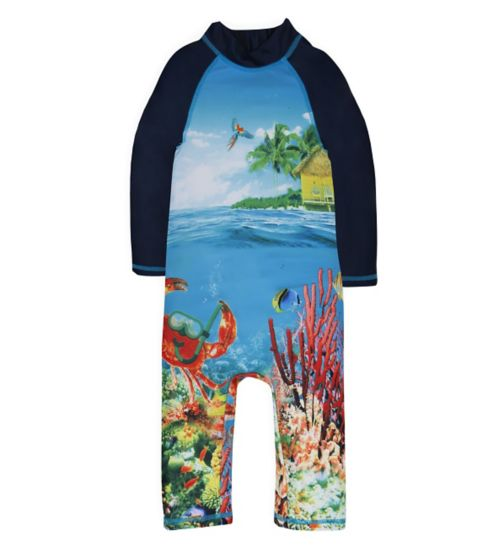 Mini Club Boys Sunsafe Underwater Print
