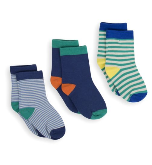 Mini Club Boys 3 Pack Socks Stripe