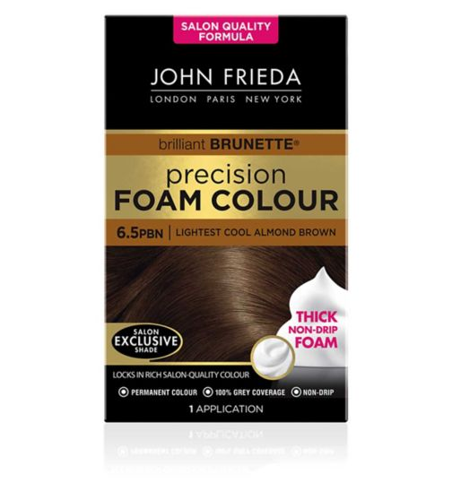 John Frieda Precision Foam Colour lightest cool almond brown 6.5PBN 130ml
