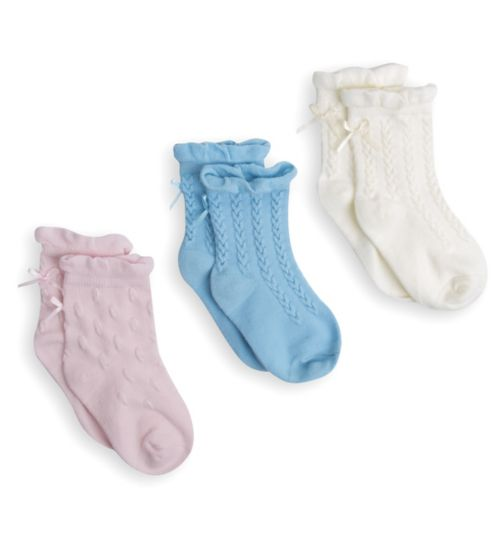 Mini Club Girls 3 Pack Socks Pastel