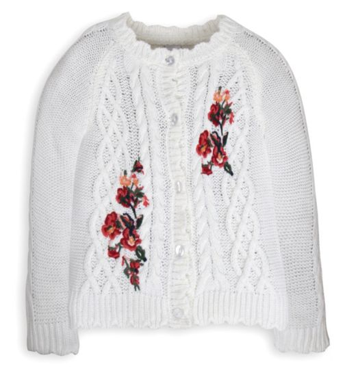 Mini Club Girls Cardigan Floral Knit