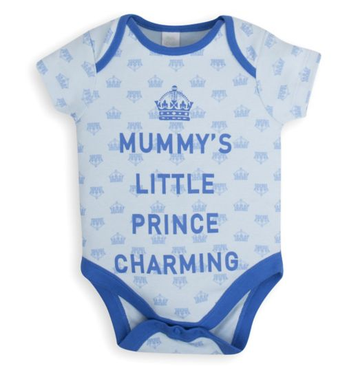 Mini Club Baby Boys Bodysuit Blue Prince