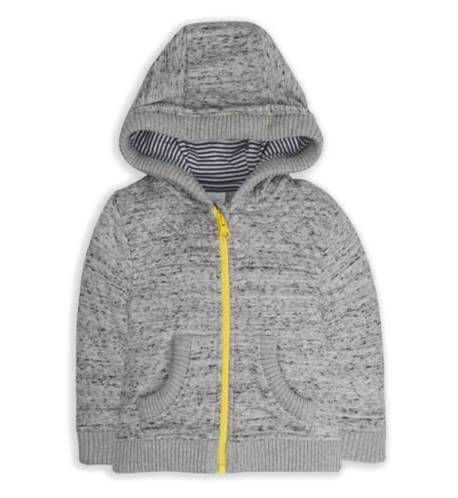 Mini Club Baby Boys Hoodie Grey Marl