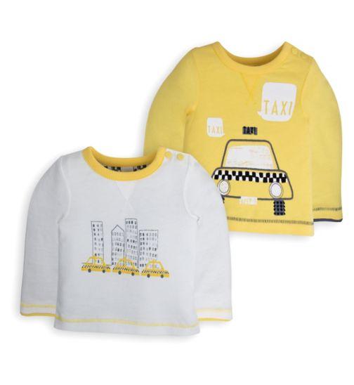 Mini Club Baby Boys 2 Pack Tops Taxi