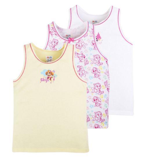 Mini Club Girls 3 Pack Vests Paw Patrol
