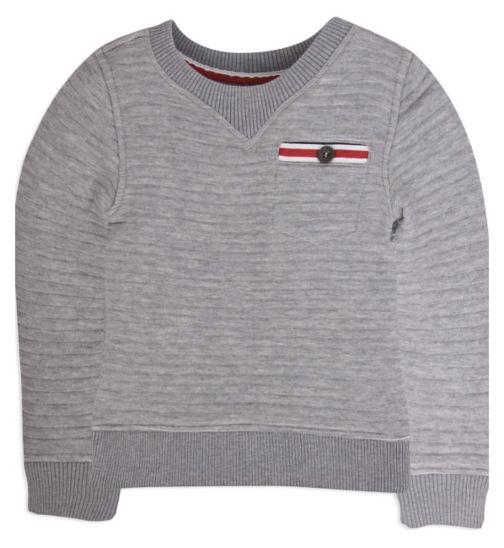 Mini Club Boys Sweater Grey Ribbed