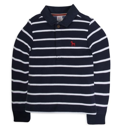 Mini Club Boys Rugby Polo Top Navy