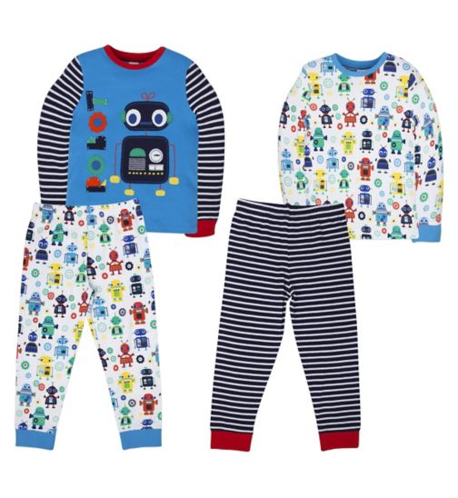 Mini Club Boys 2 Pack Pyjamas Robot