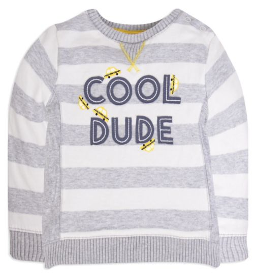 Mini Club Baby Boys Sweat Top 'Cool Dude'