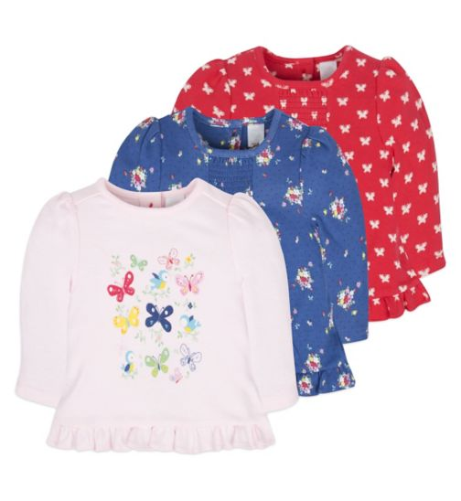 Mini Club Baby Girls 3 Pack Tops Floral