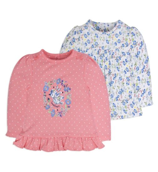 Mini Club Baby Girls 2 Pack Tops Bird