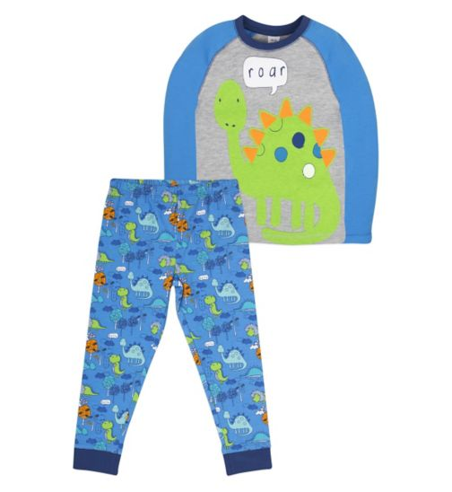 Mini Club Boys Long Sleeved Pyjamas Dinosaur