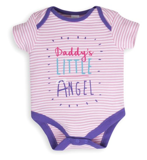 Mini Club Baby Girls Bodysuit 'Daddy's Little Angel'