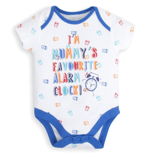 Mini Club Baby Boys Bodysuit Alarm Clock