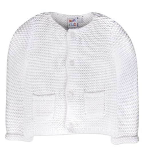 Mini Club Baby Cardigan White Knit