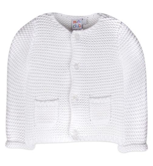 Mini Club Baby Cardigan White Knit