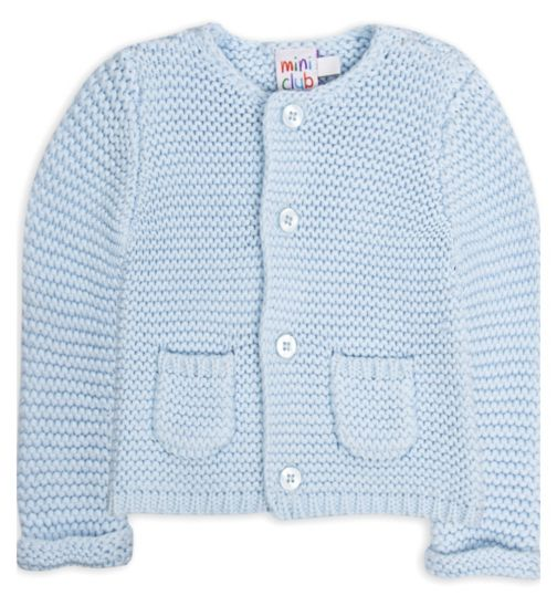 Mini Club Baby Boys Blue Knitted Cardigan