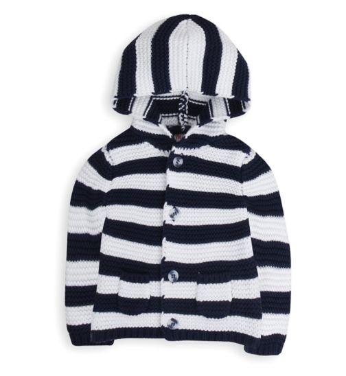 Mini Club Baby Boys Hooded Cardigan Stripe