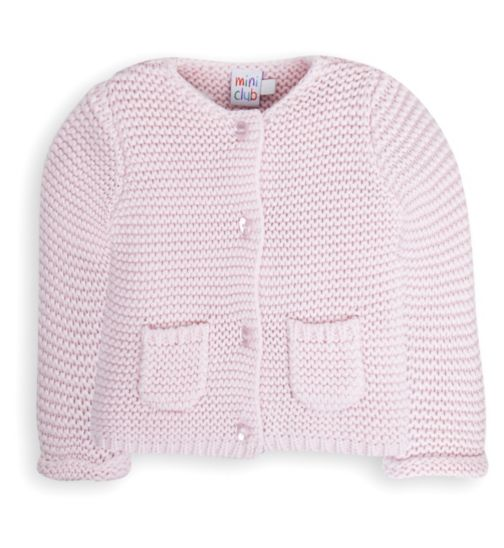 Mini Club Baby Girls Knitted Cardigan Pink