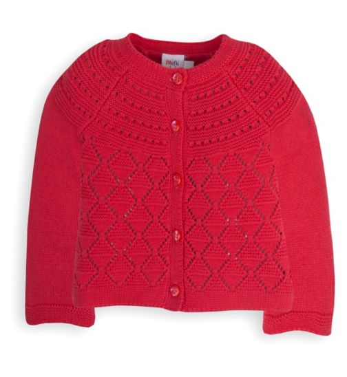 Mini Club Baby Girls Knitted Cardigan Red