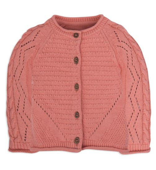 Mini Club Baby Girls Knitted Cardigan Coral
