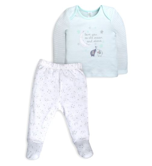 Mini Club Baby 'Love You To The Moon and Stars' Top and Bottoms Set