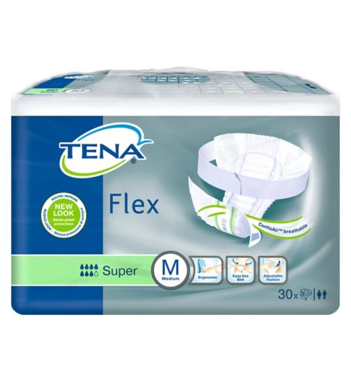 TENA Flex Super Medium - 30 Pack