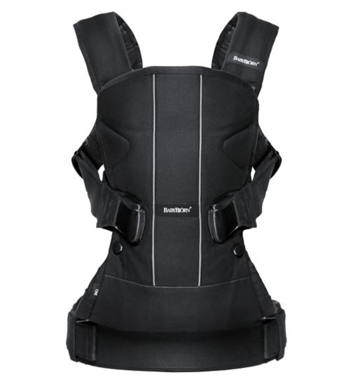 BABYBJÖRN Baby Carrier One, Black, Cotton Mix