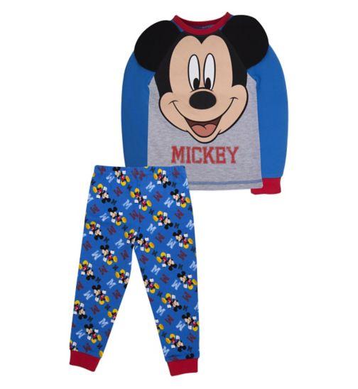 Mini Club Boys Long-Sleeved Pyjamas Mickey Mouse