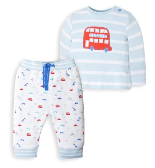 Mini Club Baby Boys Top and Jogger Set  Bus