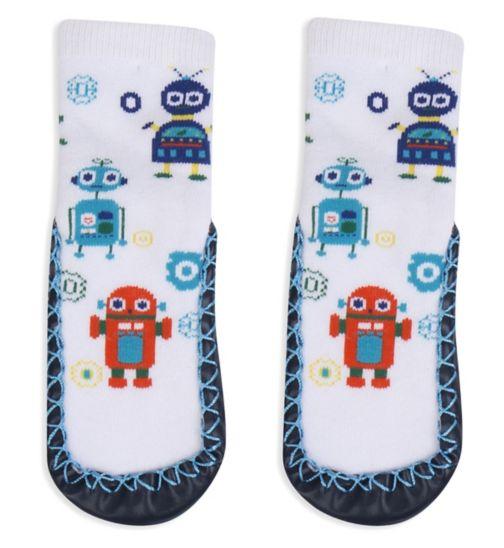 Mini Club Boys Slipper Socks Robot