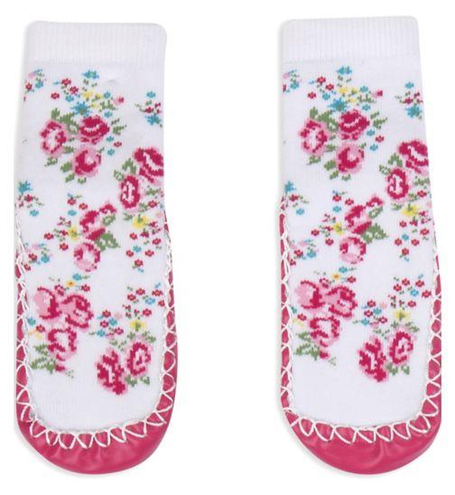 Mini Club Girls Slipper Socks Floral