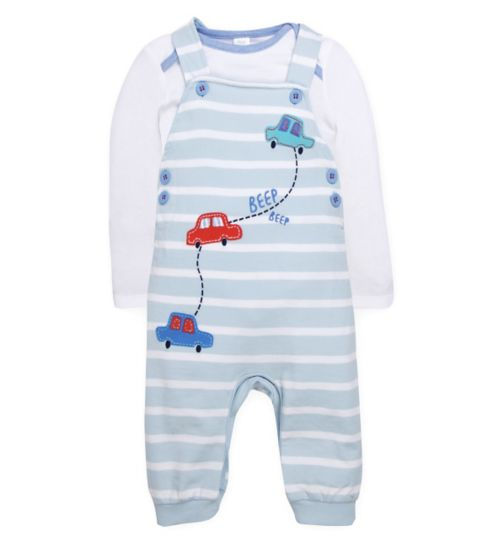 Mini Club Baby Dungaree and Bodysuit Set Car