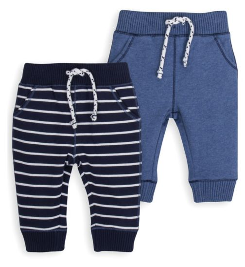 Mini Club Baby Boys 2 Pack Joggers Blue