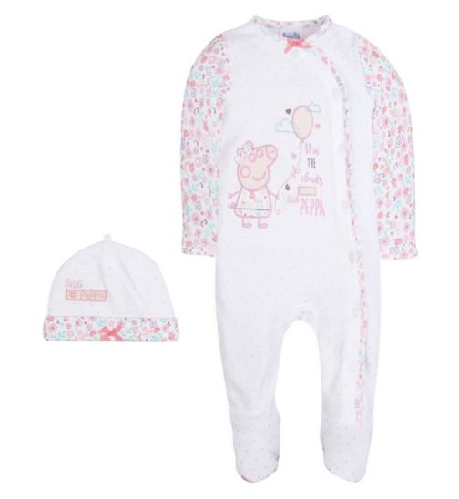 Mini Club Baby Girls All in One and Hat Peppa Pig