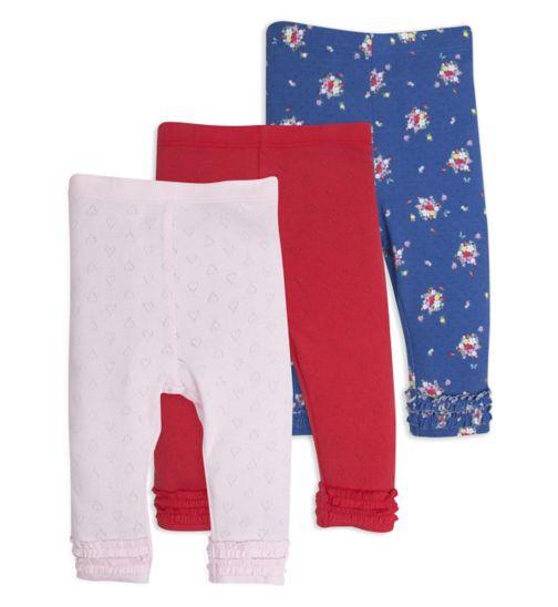 Mini Club Baby Girls 3 Pack Leggings Floral