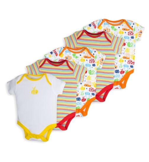 Mini Club Baby Pack of 5 Bodysuits Bee