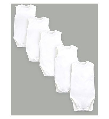 MC 5 pack short sleeve bodysuits