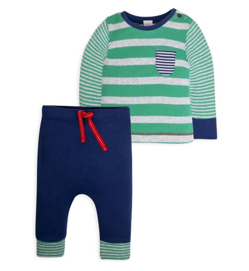 Mini Club Baby Boys Top and Jogger Set Stripe
