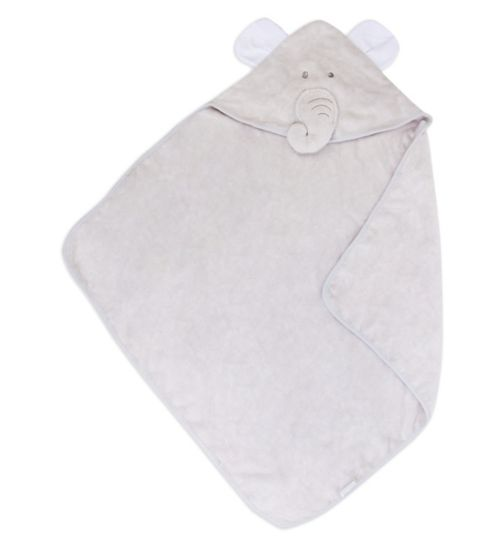 Mini Club Baby Cuddle Robe Grey Elephant