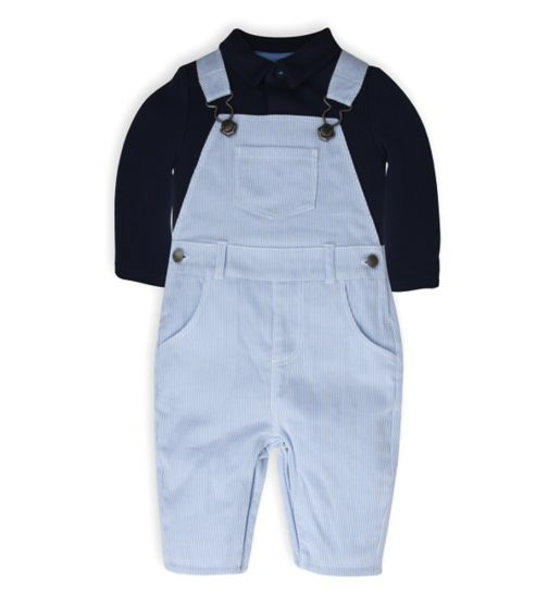 Mini Club Baby Boys Dungaree and Bodysuit Set Blue