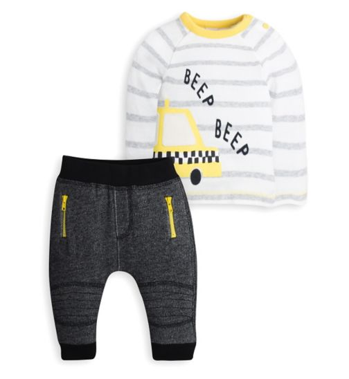 Mini Club Baby Boys Top and Jogger Set Taxi