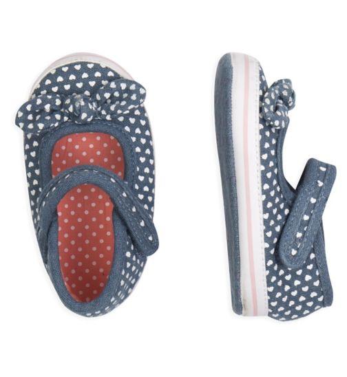 Mini Club Baby Girls Shoes Denim Heart