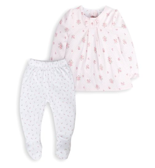 Mini Club Baby Girls Top and Bottom Set Pink Floral