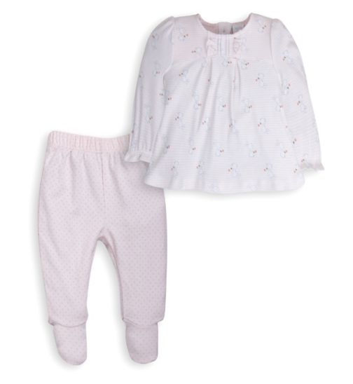 Mini Club Baby Girls Top and Bottom Set Pink Bunny