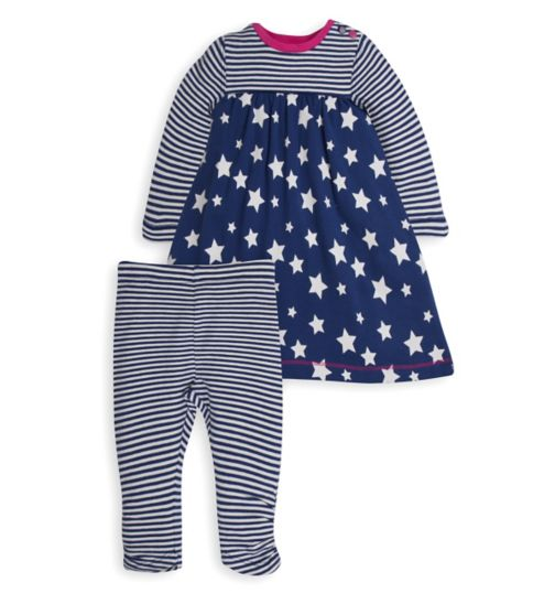 Mini Club Baby Girls Dress and Legging Set Star and Stripe