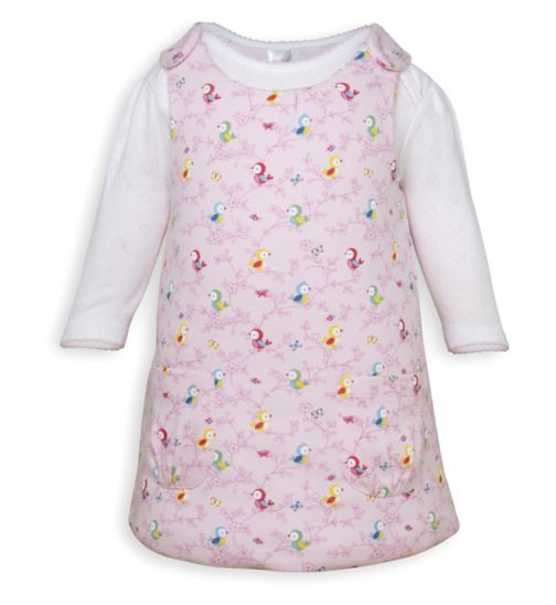 Mini Club Baby Girls Wadded Dress and Bodysuit Bird