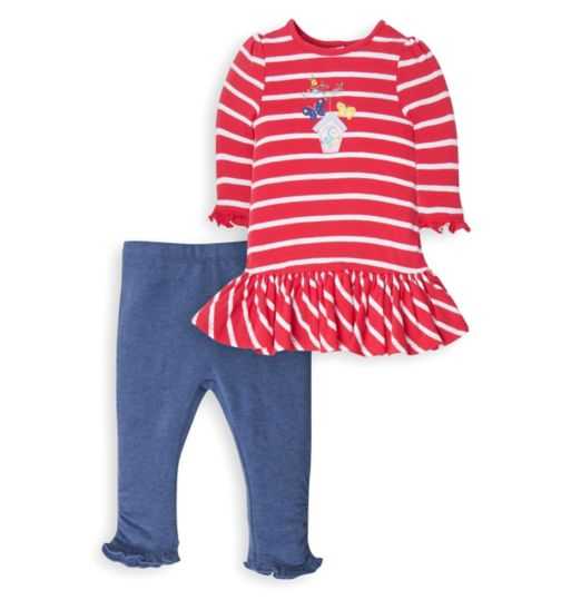 Mini Club Baby Girls Dress and Legging Set Stripe